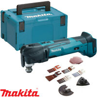 Makita DTM51Z 18v LXT Cordless Multi Tool Body With Wellcut 17pc Acc Set & Case