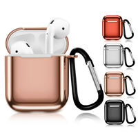 1/2 Plating Silicone Earphone Case Cover Protective Skin For Apple AirPods CA rr