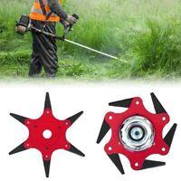 6 Steel Blades Razor 65Mn Lawn Mower Grass Eater Trimmer Head Brush Cutter Tool