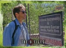 X Files UFOs & Aliens Sticker Card S-11 Little Green Men - Abandoned Observatory