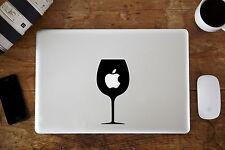 """Bicchiere di vino in Vinile Adesivo Decalcomania per Apple MacBook Air / Pro Laptop 13 """" 15"""""""
