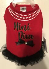 Smoochie Pooch Mini Diva Red Dress S NWT
