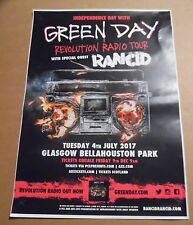 Green Day + Rancid - UK live music show tour concert / gig poster - july 2017