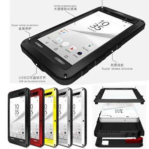 Love Mei Metal Armor Gorilla Glass Case Cover For Sony Xperia XZ2 XA2 XZ1 XA1 XA
