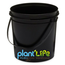 Versatile Buckets with Handle & Lid BLACK Hydroponics