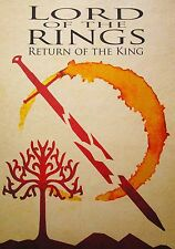 """Lord Of The Rings Return King  Movie Film  Pop Art Print  on Canvas  Framed 24"""""""