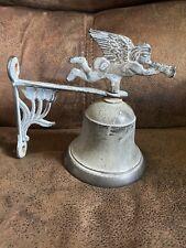 Vintage Dinner Bell Iron Outdoors Angel Metal Copper Look
