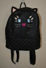 Betsey Johnson - Luv Betsey - Black Cat Ears Quilted Rounded Backpack - LBLUCY