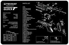 GUN CLEANING GUNSMITH BENCH MAT AIRSOFT POLICE TEKMAT for GLOCK 9MM PISTOL