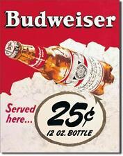 Budweiser Bier USA Klassik Style Metall Schild Bar Werbung Deko Plakat
