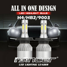 Pair CREE H4 HB2 9003 LED Headlight Kit 9003 3000W Hi/Low Beam Bulb 6000K Light