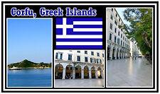 CORFU, GREEK ISLANDS, GREECE - SOUVENIR NOVELTY FRIDGE MAGNET - NEW - GIFT