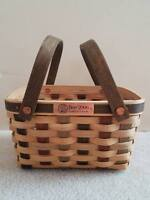 Longaberger 2006 Bee Heartwood Basket Set RETIRED New FAMILY SIGNATURES