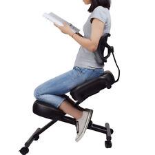 DRAGONN (By VIVO) Ergonomic Kneeling Chair with Back Support, Black