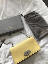 Mulberry Bayswater Clutch Yellow With Silver Hardware