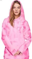 Victoria's Secret PINK Tie Dye Crossover Hoodie Pullover Large NWT