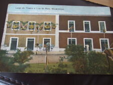 Africa, Mocambique, Theatro a loja do povo old Postcard,