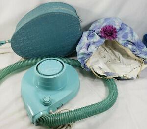 Vintage Lady Sunbeam Aqua Teal Portable Blow Dryer