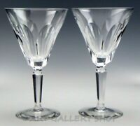 """Waterford Crystal SHEILA 7"""" WINE WATER GOBLETS GLASSES Set of 2"""