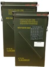 2 PACK 81mm Ammo Can M821A2 Tall Metal Can Genuine USGI EXCELLENT Condition