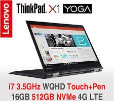 ThinkPad X1 Yoga Gen 2 i7 3.5Ghz WQHD IPS 16GB 512GB NVMe 4G 2Y OS+TPP Warranty