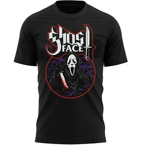 Scary Ghost Face Halloween T-Shirt Adults Novelty Shirt Top Gift For Men & Women