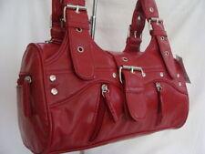 Women's Faux Leather Zip Outer Pockets Baguettes Handbags