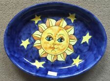 Vietri Pottery-12x9inch oval with Sun And moon pattern ON SALE.Made in Italy