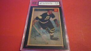 1954/55 PARKHURST NHL HOCKEY CARD #88 JACK MCINTYRE KSA 7.5 LUCKY PREMIUM PARKIE