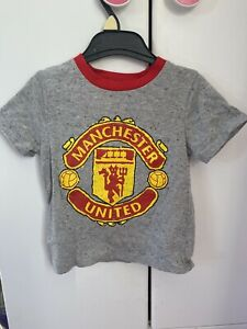 Official Manchester United Man Utd Grey Crest T shirt Baby Infant 18-23 Months