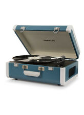 New record player Crosley PORTFOLIO portable Bluetooth turquoise turntable