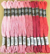 TORSADE à broder ♦ 12x Rose + rosè-sortierung ♦ coton retors à broder -45