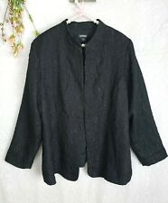 Avenue Sz 18 20 Jacket Black Womens Sz 2X 3X Paisley Textured Subtle Shimmer
