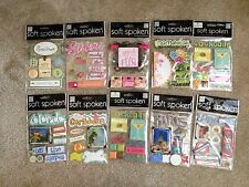 NEW 10 pks Soft Spoken Mambi Card Making Scrapbooking Embellishments Sticker Lot