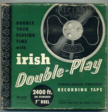 Irish used open reel tape with rare promotional advertising inserts 7 inch