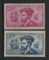 """FRANCE STAMP TIMBRE 296 / 297 """" JACQUES CARTIER BATEAU CANADA """" NEUF xx TB R828"""