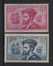 """FRANCE STAMP TIMBRE 296/297 """" JACQUES CARTIER BATEAU CANADA """" NEUF xx TB R820"""