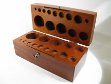 Antique Solid Mahogany Weight Set Storage Box