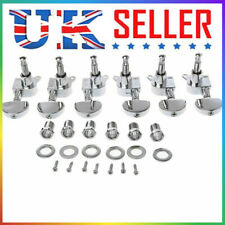 More details for 6 guitar machine heads electric/acoustic tuning pegs tuner string winders keys