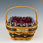 LONGABERGER JW COLLECTION MINIATURE BERRY BASKET WITH BERRIES MINT CONDITION!!