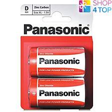 2 PANASONIC ZINC CARBON D LR20 BATTERIES 1.5V MONO R20 MN1300 AM1 E95 NEW