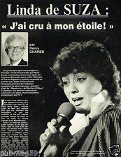 Coupure de Presse Clipping 1984 (3 pages) Linda De Suza