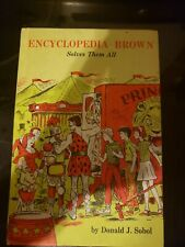 1968 Encyclopedia Brown Solves Them All by Sobol Hard cover