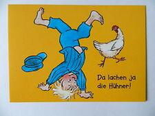 """Michel bringt die Welt in Ordnung  Postkarte """"Da lachen ja die Hühner""""  AK PK"""
