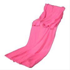 Supper Home Winter Soft Warm Fleece Snuggie Blanket Robe Cloak w/ Sleeves Gift