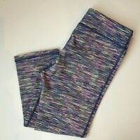 IDEOLOGY MACY'S Girl's Crop Spacedye Striped Leggings VGUC Size L Style #G6120