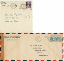 Canal Zone WWII Censored Air Mail Cover to MA plus 1947 Fancy Cancel Cover to IL