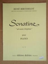 """PARTITION """" SONATINE """" POUR PIANO par R. BERTHELOT EDITION DELRIEU"""