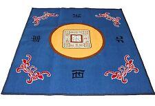 """31"""" Blue Slip Slide Resistant Mahjong Domino Card Game Table Cover Mat"""