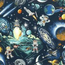 Space Odyssey Fat Quarter by Nutex 100% Patchwork Quilting Cotton Fabric